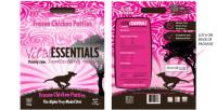 Vital Essentials frozen chicken patties. Source: vitalessentialsraw.com